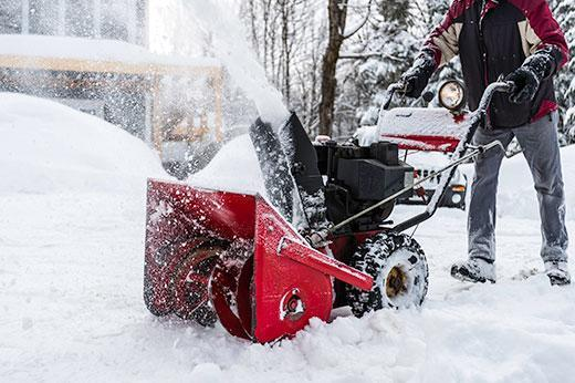 Close-up image of snowblower