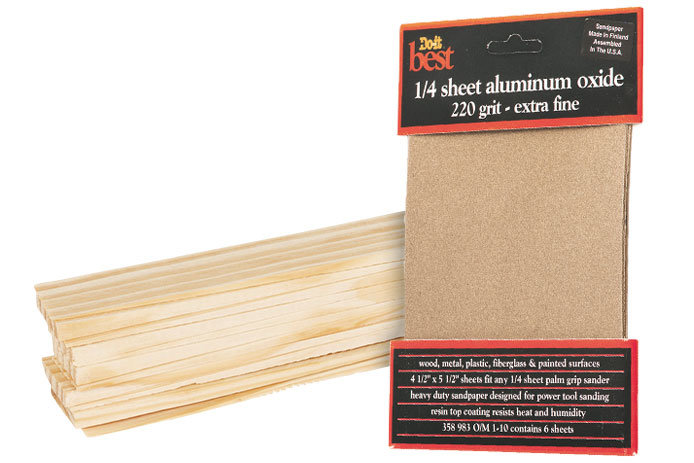 Sandpaper and shims