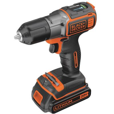 Black & Decker 20 Volt MAX Lithium-Ion 3/8 In. Cordless Drill Kit with AutoSense Technology