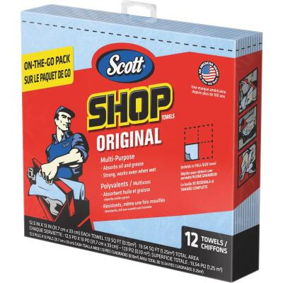 Scott 13 In. W x 12-1/2 In. L Disposable Original Shop Towel (12-Sheets)