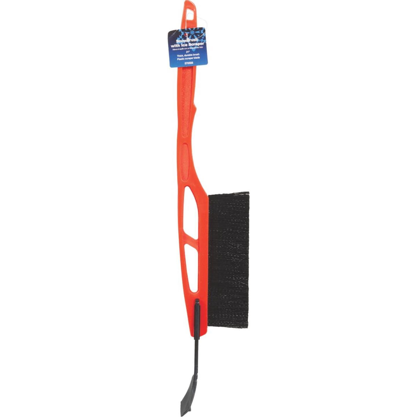 21 In. Plastic Snowbrush with Ice Scraper Image 2