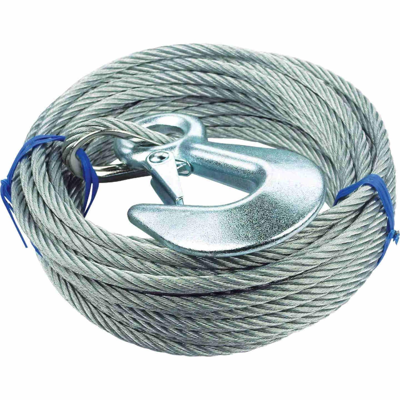"""Seachoice 3/16"""" x 25' Galvanized Winch Cable Image 1"""