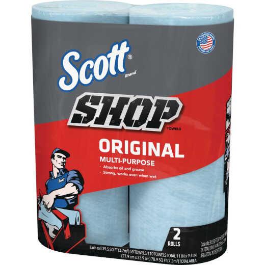 Scott 11 In. W x 9.4 In. L Disposable Original Shop Towel, (2-Roll/110-Sheets)