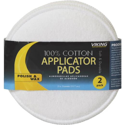 Viking 5 In. Dia. Cotton Terry Wax Applicator Pad (2-Pack)