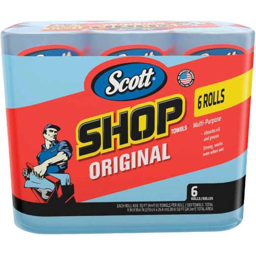 Scott 11 In. W x 9.4 In. L Disposable Original Shop Towel (6-Roll/330-Sheets)