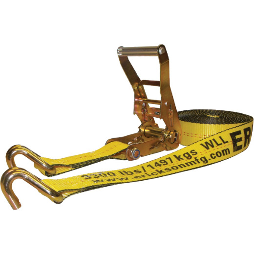 Erickson 2 In. x 27 Ft. 10,000 Lb. Ratchet Strap with Double J Hook