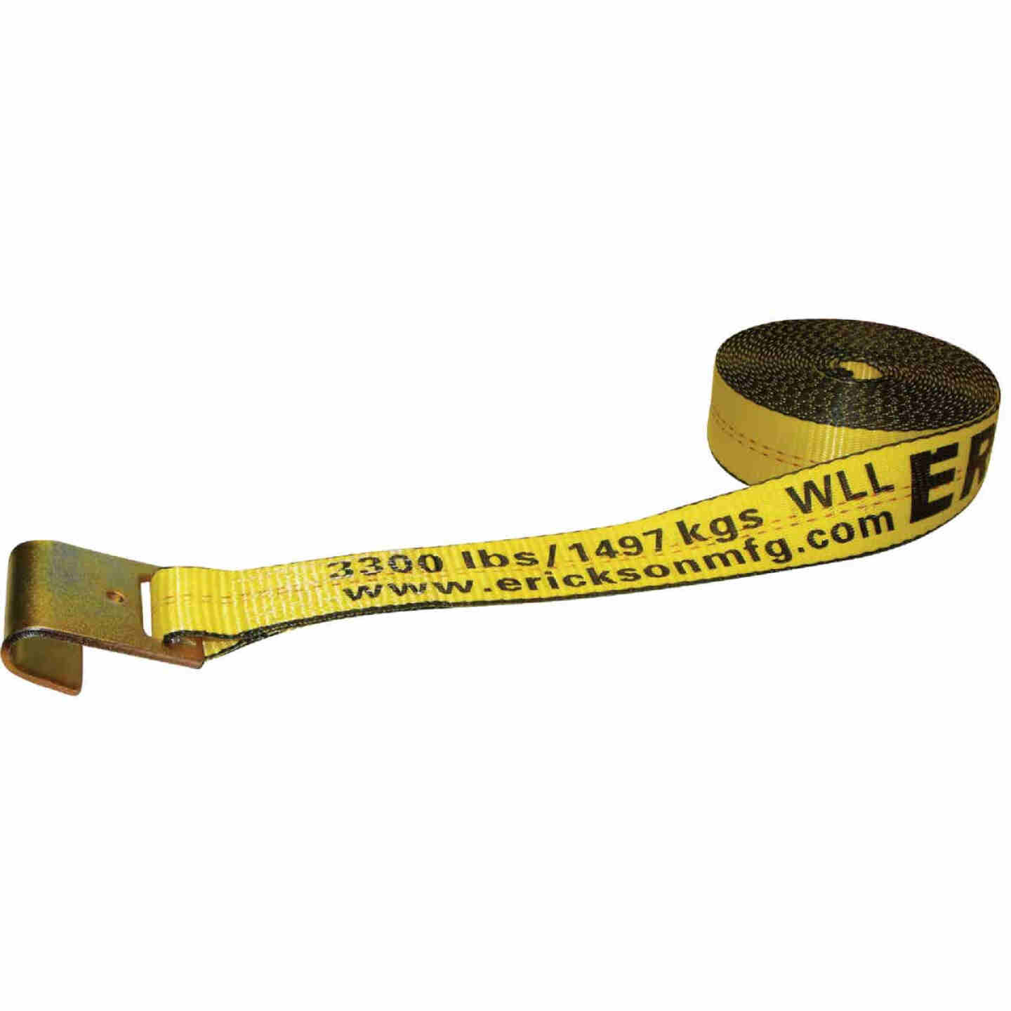 "Erickson 2"" x 30' Polyester Webbing Winch Strap Image 1"