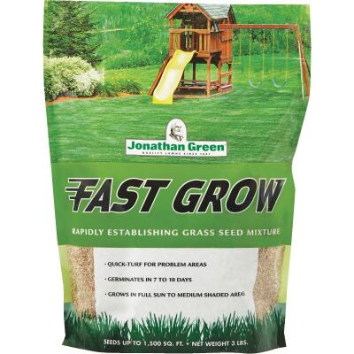 Jonathan Green Fast Grow 3 Lb. 750 Sq. Ft. Coverage Ryegrass & Fescue Grass Seed