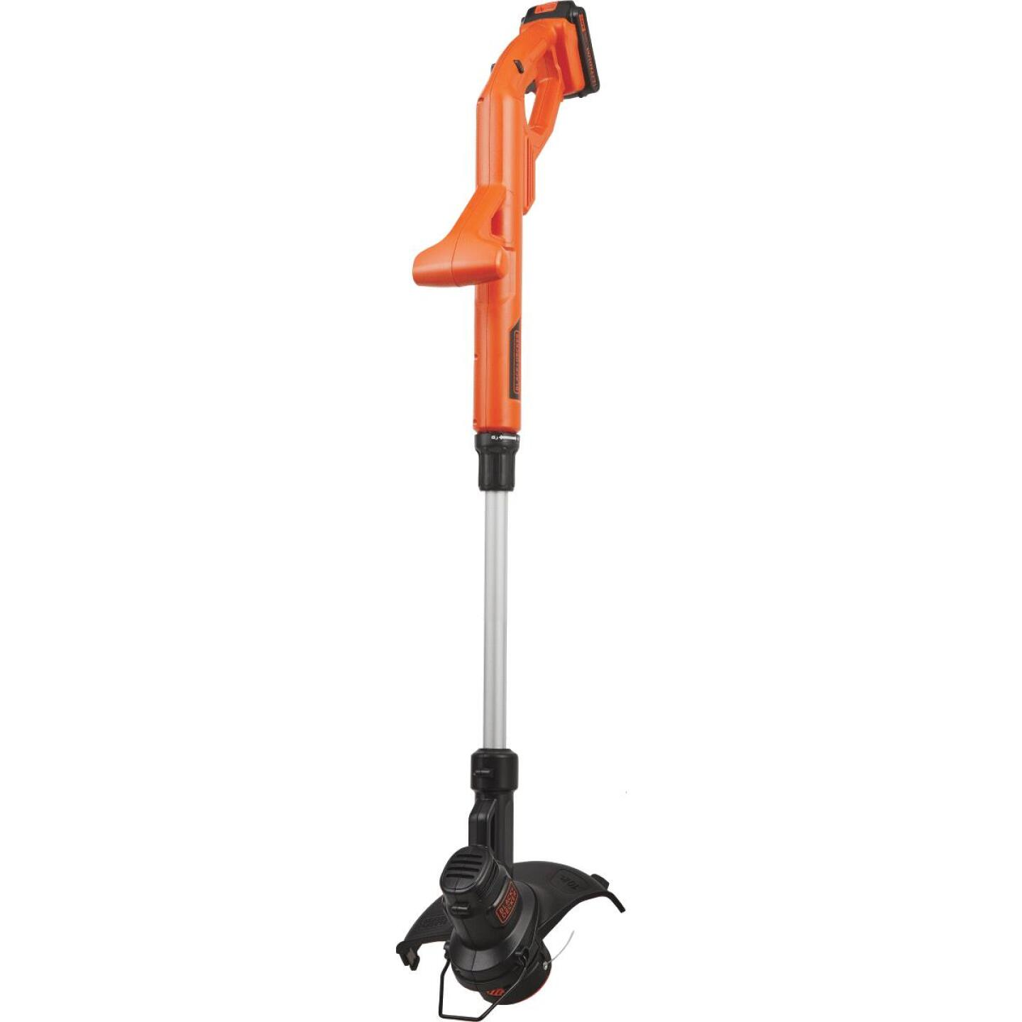 Black & Decker 20V MAX 10 In. Lithium Ion Straight Cordless String Trimmer/Edger Image 1