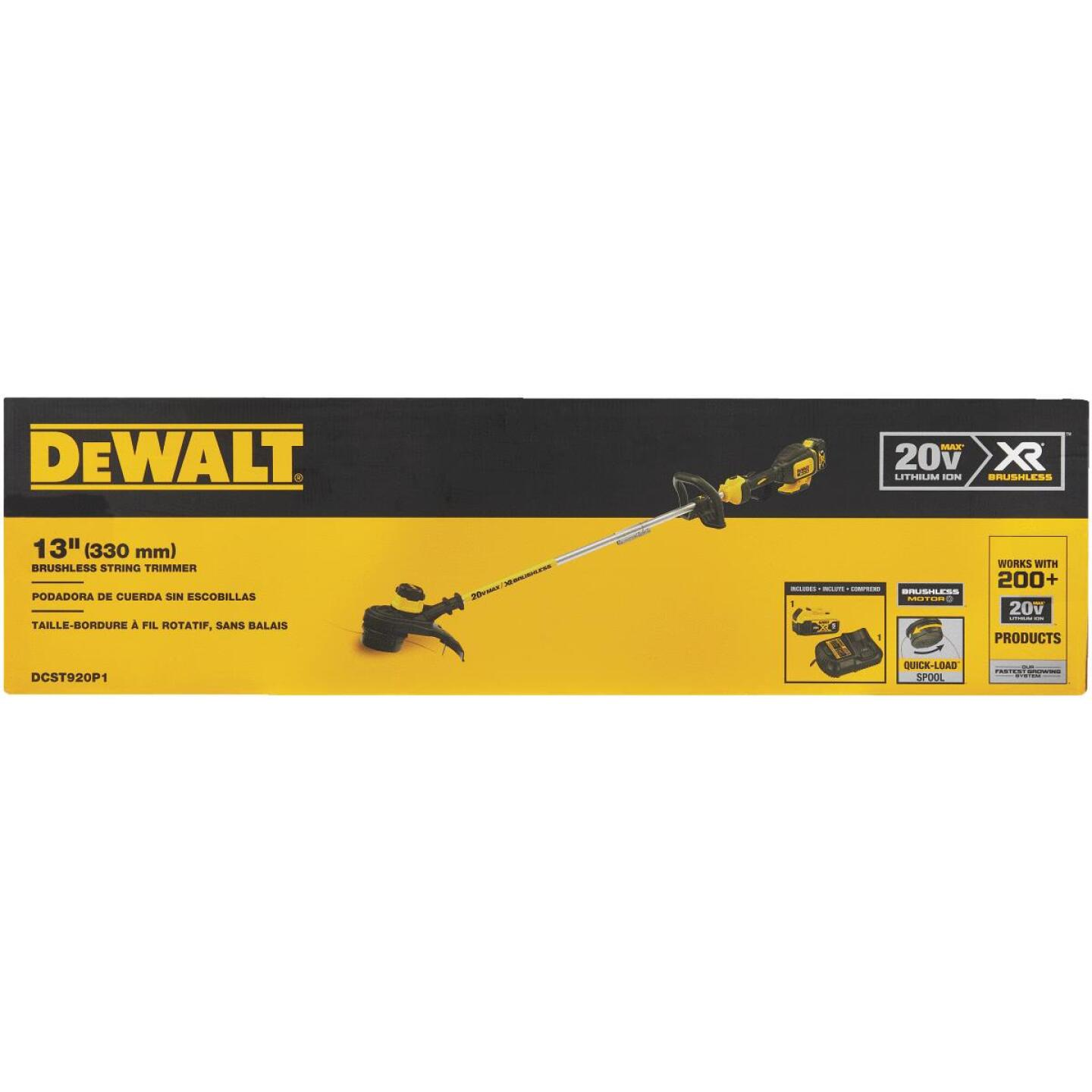 DeWalt 20V MAX 13 In. Lithium Ion Straight Cordless String Trimmer Image 6