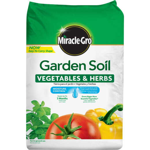Miracle-Gro 1.5 Cu. Ft. 49 Lb. In-Ground Vegetables, Herbs Garden Soil