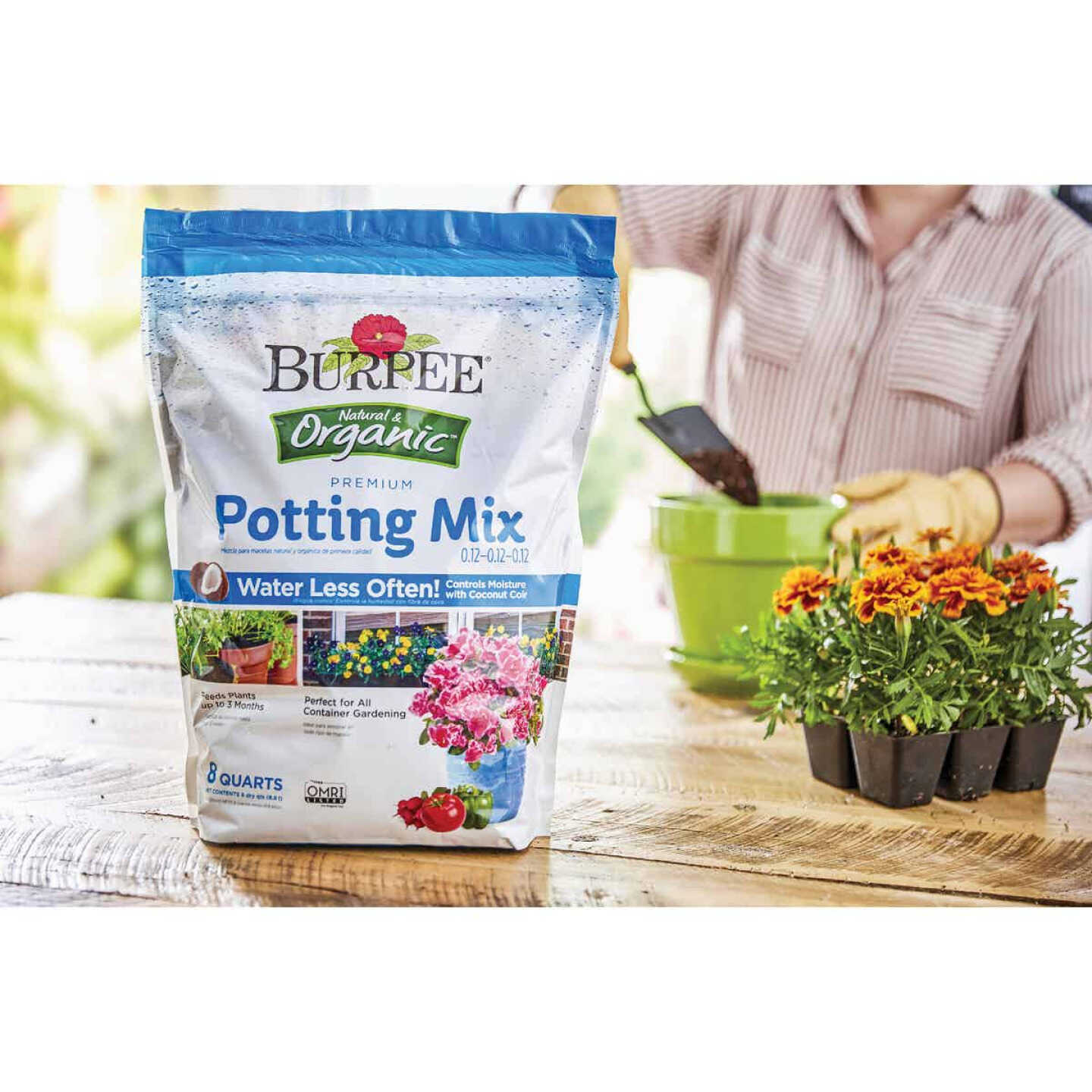 Burpee 8 Qt. 6-1/2 Lb. All Purpose Container Organic Seed Starting Mix Image 2
