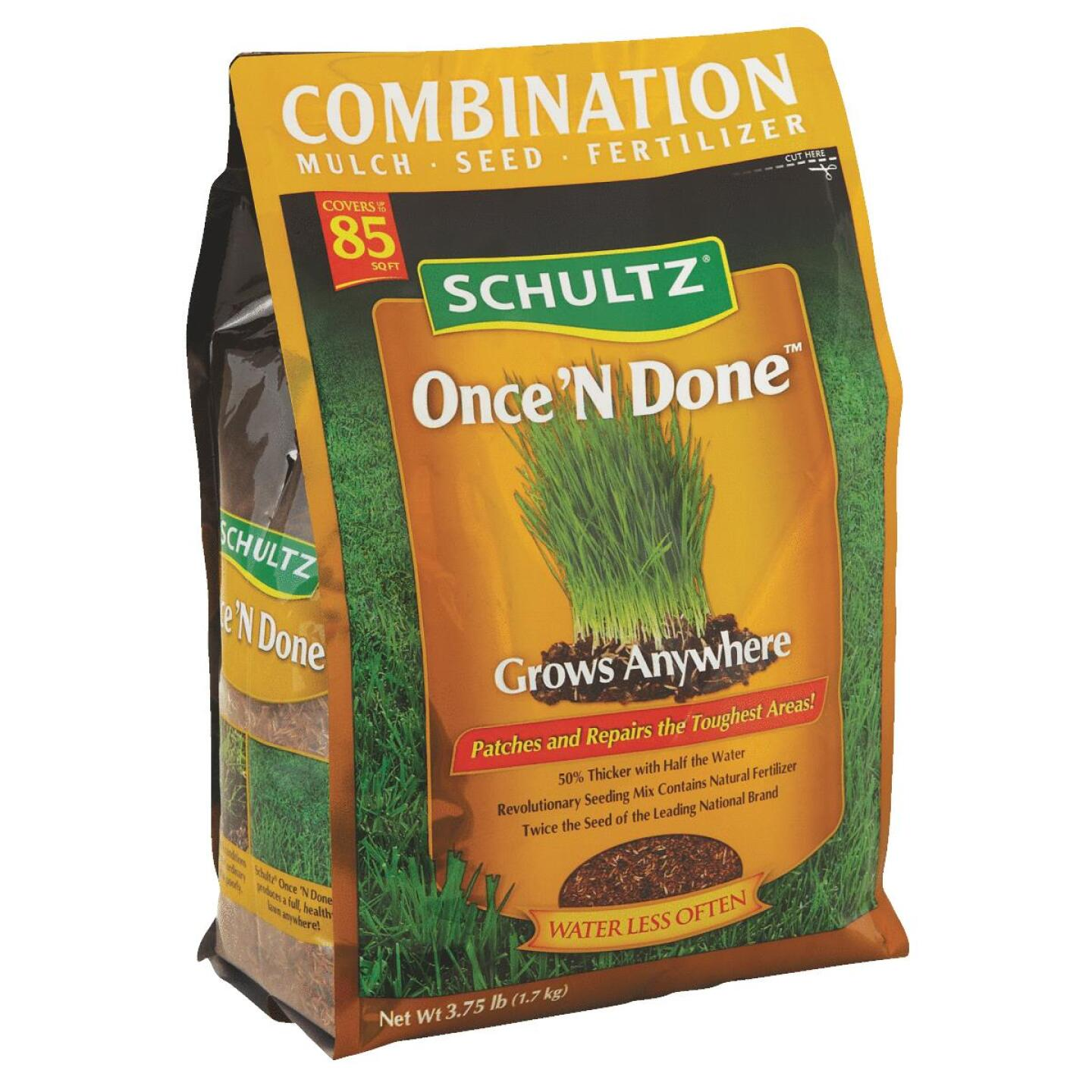 Schultz Once 'N Done 3.75 Lb. 85 Sq. Ft. Coverage Sun & Shade Grass Patch & Repair Image 1