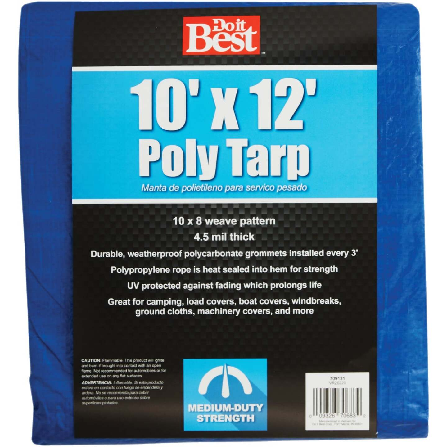 Do it Best Blue Woven 10 Ft. x 12 Ft. Medium Duty Poly Tarp Image 1
