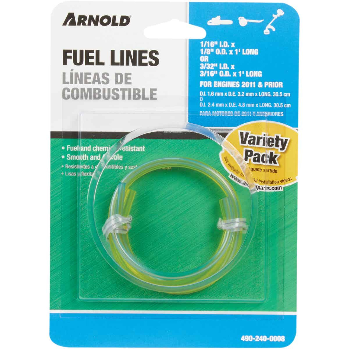 Arnold 1 Ft. Fuel Line Combo Pack (2 Pack) Image 2