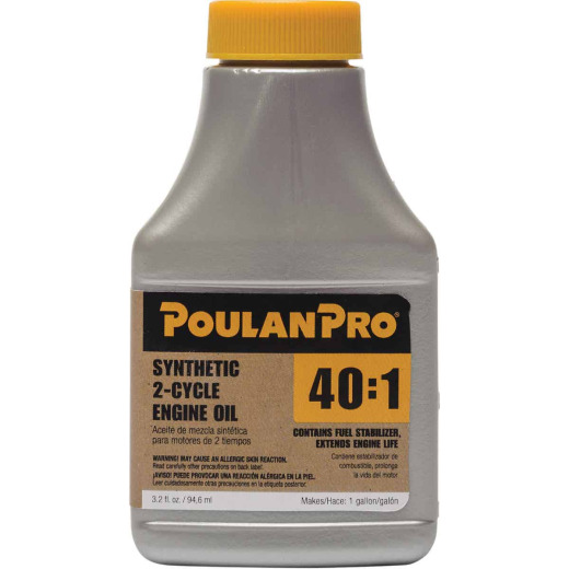 Poulan Pro 3.2 Oz. Semi-Synthetic 2-Cycle Motor Oil