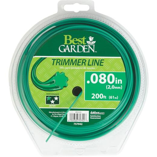 Best Garden 0.080 In. x 200 Ft. 7-Point Trimmer Line