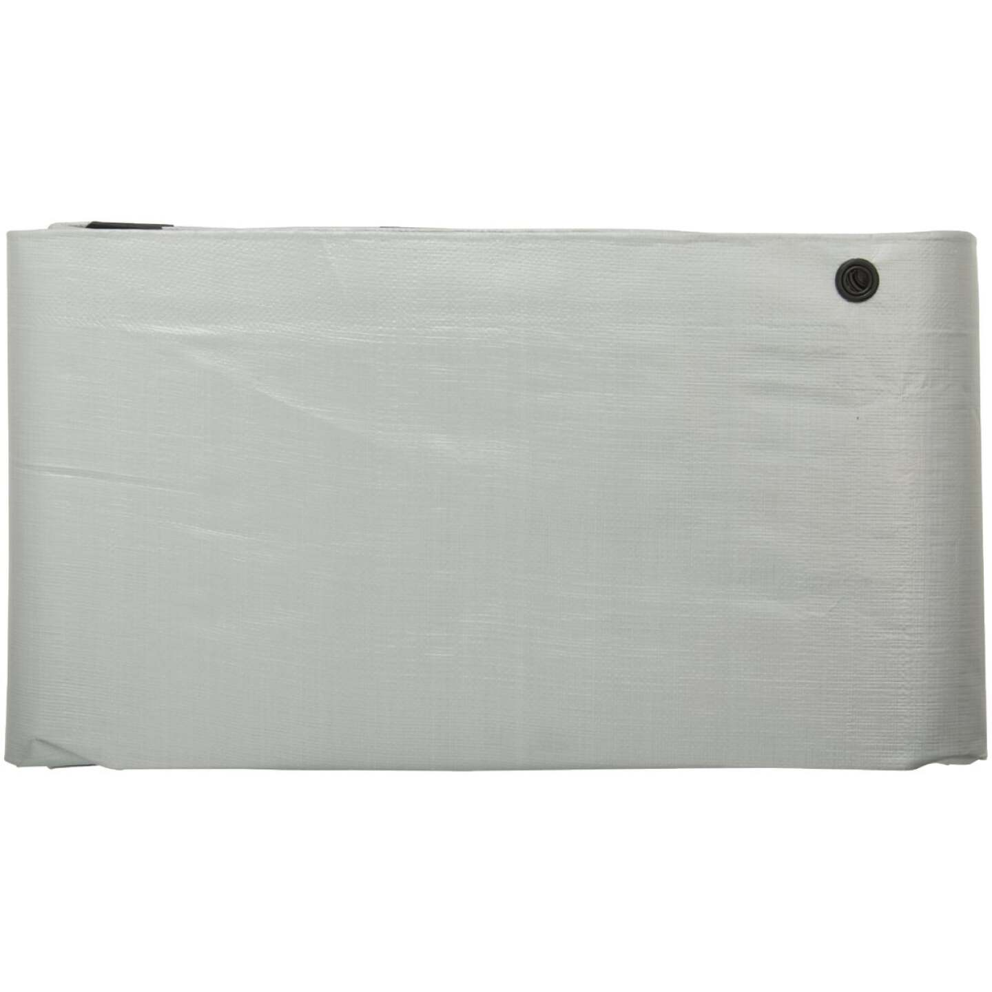 Do it Best Silver Woven 12 Ft. x 20 Ft. Heavy Duty Poly Tarp Image 2