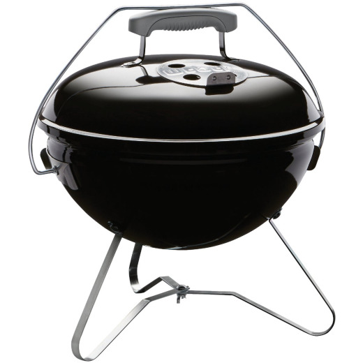 Weber Smokey Joe 14 In. Dia. Black Tuck-N-Carry Charcoal Grill