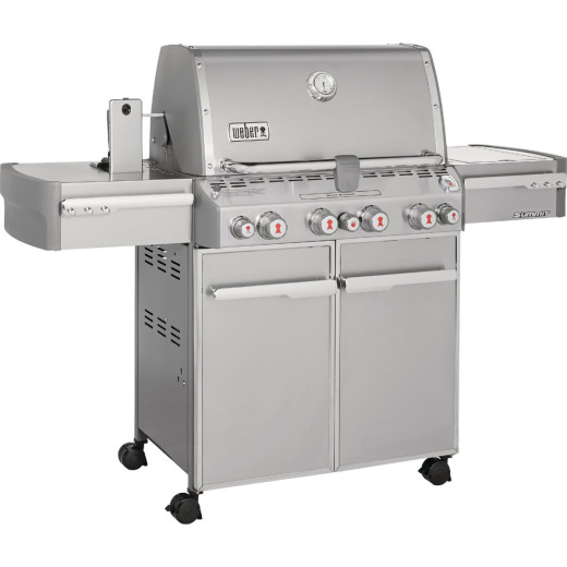 Weber Summit S-470 4-Burner Stainless Steel 48,800-BTU LP Gas Grill with 12,000-BTU Side -Burner