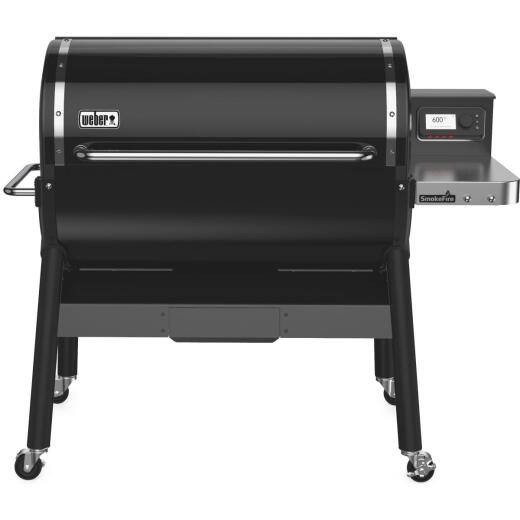 Weber SmokeFire EX6 Black 1008 Sq. In. Wood Pellet Grill